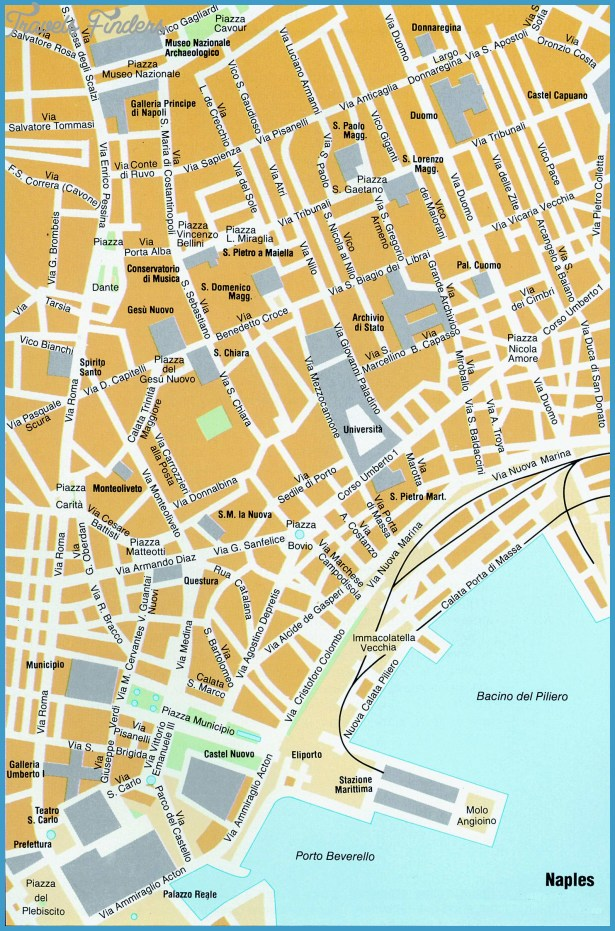 map of naples naples italy europe