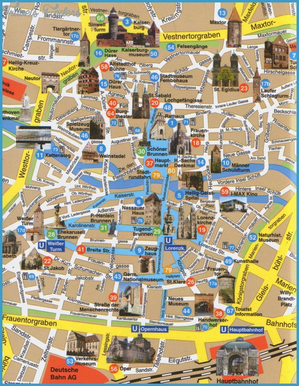 Frankfurt Map Tourist Attractions - TravelsFinders.Com ®