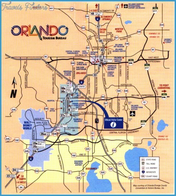 Orlando Florida On Us Map.Orlando Map Travelsfinders Com