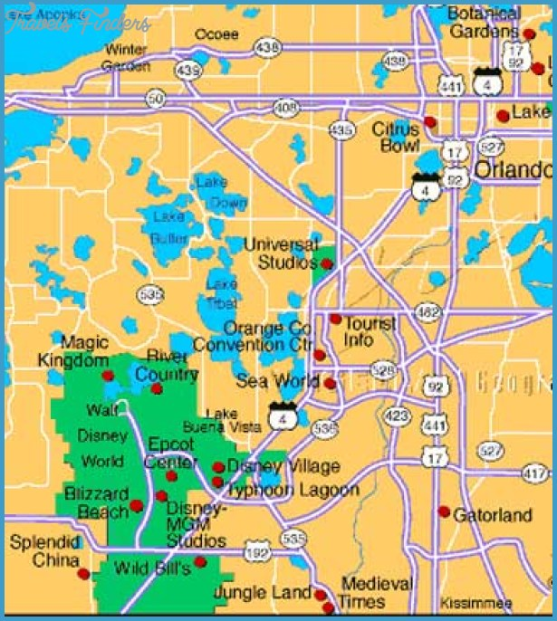 map of orlando attractions Orlando Map Tourist Attractions Travelsfinders Com map of orlando attractions