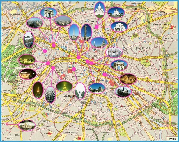 Paris, France Tourist Map See map details From www.paris-touristguide ...