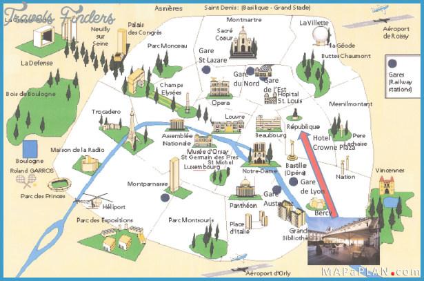 Paris Map - TravelsFinders.Com ®