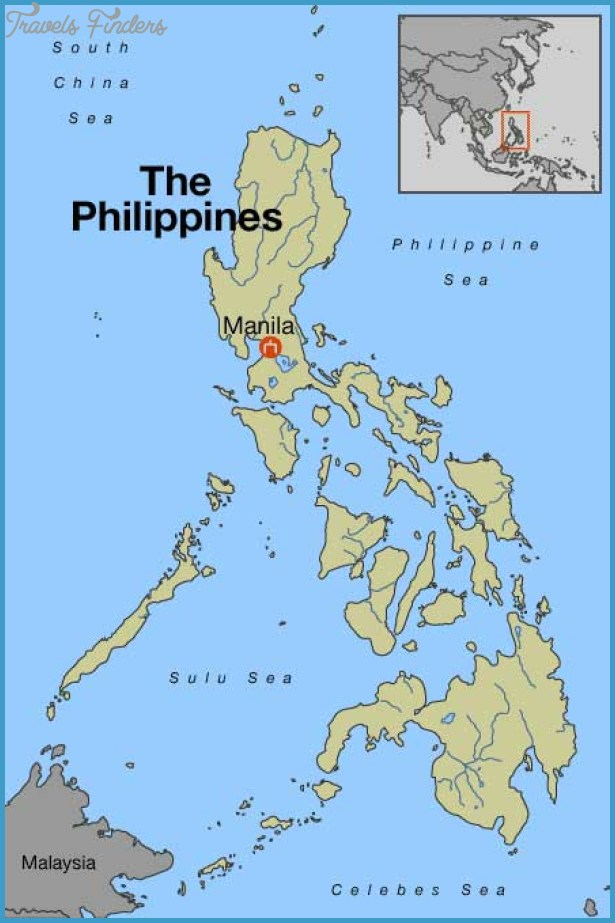Manila Map TravelsFindersCom - Where is philippines