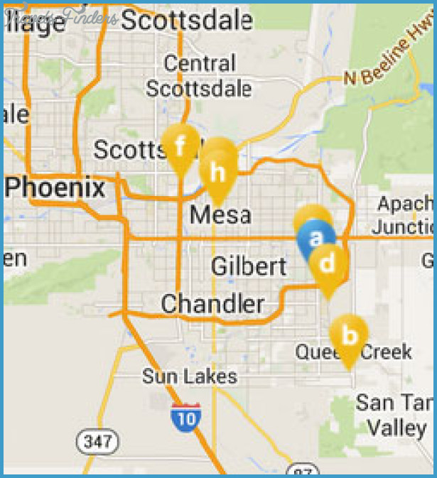 PhoenixMesa Map Tourist Attractions – Phoenix Tourist Attractions Map