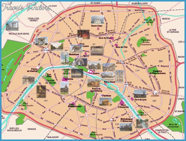 Paris Map Tourist Attractions Travelsfinders ®: Paris Tourist Attractions Map At Slyspyder.com