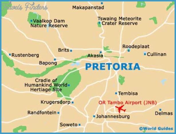 Pretoria Map Tourist Attractions TravelsFindersCom