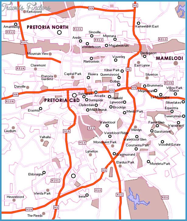 Pretoria Subway Map TravelsFindersCom