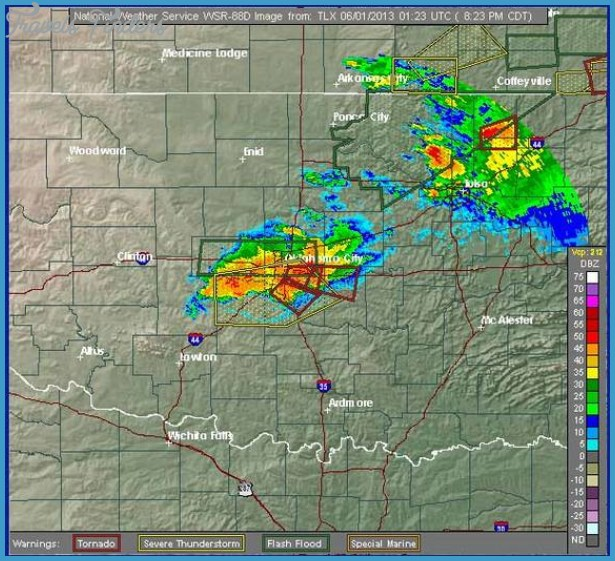 Here, a radar map showing the thunderstorms and tornadoes hitting the ...