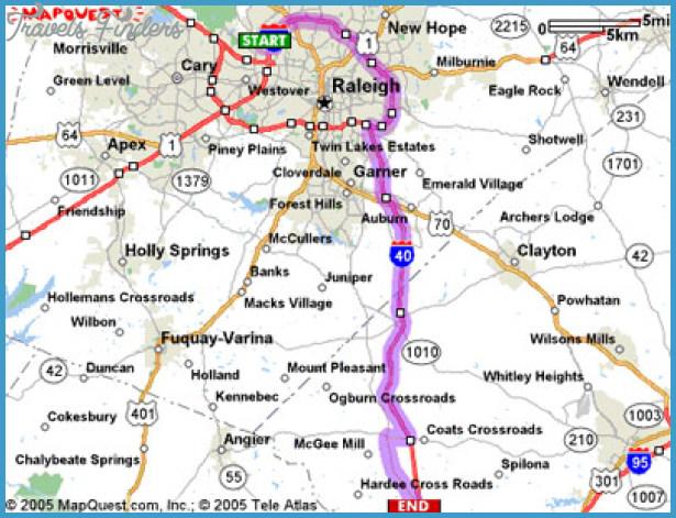 Raleigh Map Tourist Attractions TravelsFindersCom