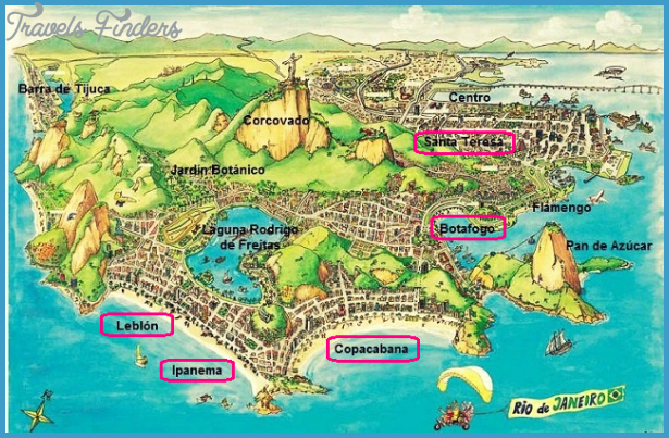 Rio de Janeiro Map TravelsFindersCom