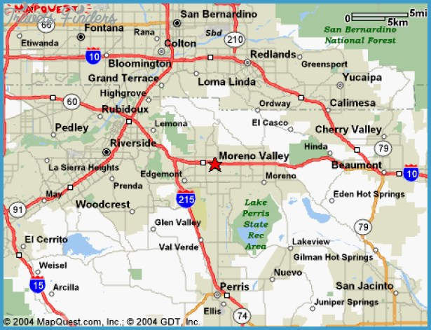 RiversideSan Bernardino Metro Map TravelsFindersCom - California map riverside county