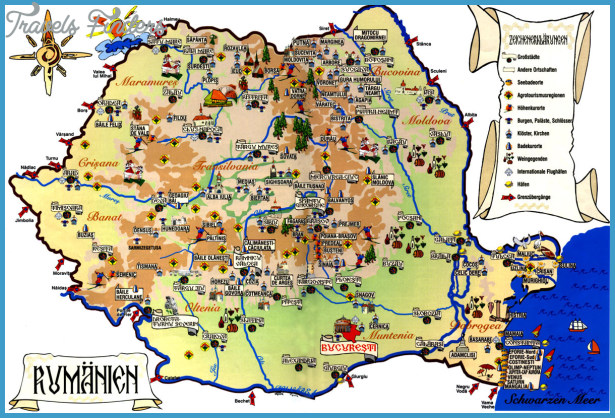Romania Map Tourist Attractions Travelsfinders Com