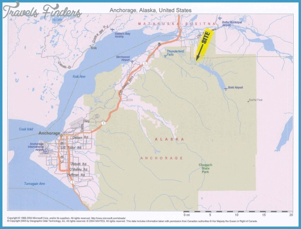 Anchorage Municipality Map  Travel  Map  Vacations