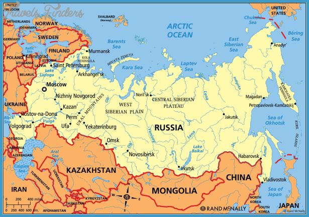 Russia Map TravelsFindersCom