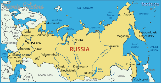 Russia Map Travel Map Vacations TravelsFindersCom