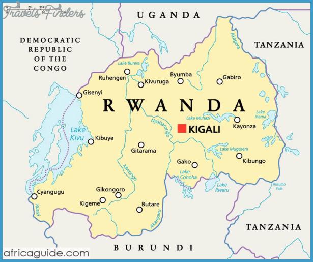 Rwanda Border Map