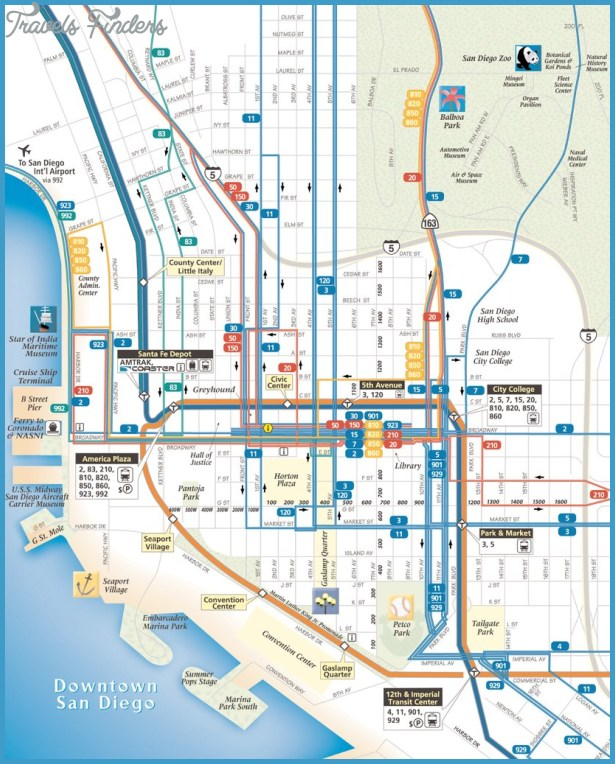San Diego Subway Map.San Diego Subway Map Travelsfinders Com