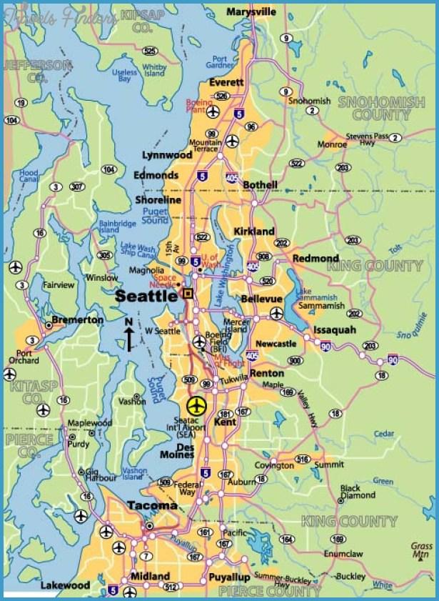 Seattle Subway Map TravelsFindersCom