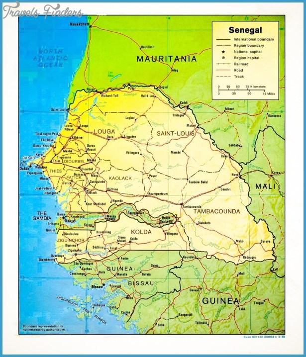 Senegal Map TravelsFindersCom