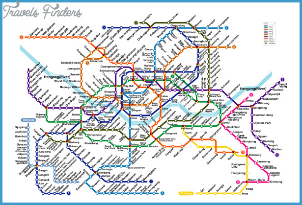 Seoul Subway Map TravelsFindersCom