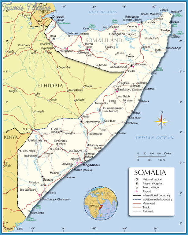 Somalia Map Travelsfinders Com