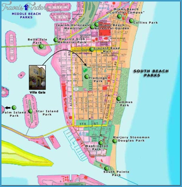 Miami Beach Convention Center Hotels Map