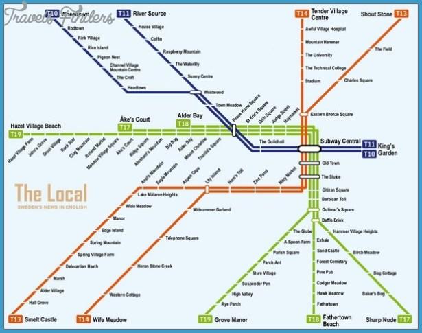Sweden Metro Map Travel Map Vacations TravelsFindersCom - Sweden forest map