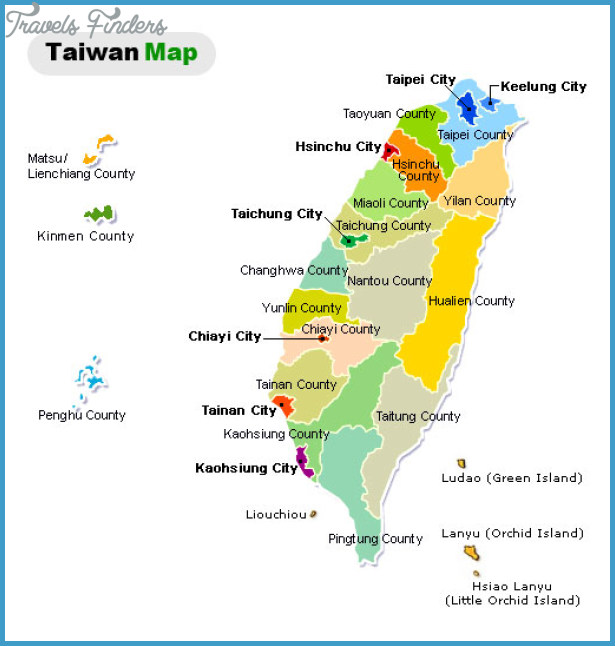 Taiwan Map TravelsFindersCom