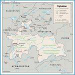 map of Tajikistan. Tajikistan detailed administrative map
