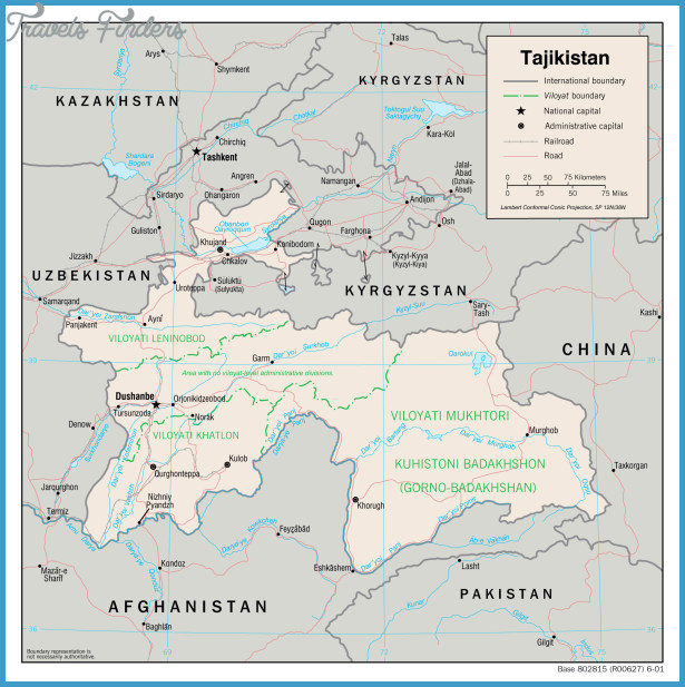 ... map of Tajikistan. Tajikistan detailed administrative map