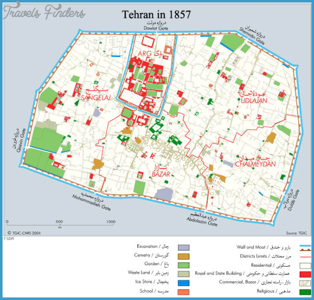 Tehran Map TravelsFindersCom