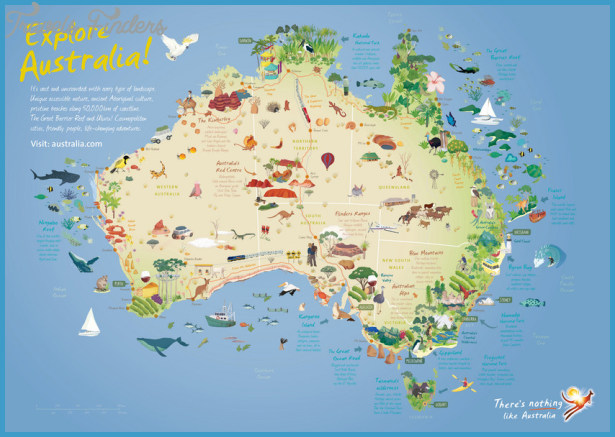 Australia Tour Map.Australia Map Tourist Attractions Travelsfinders Com