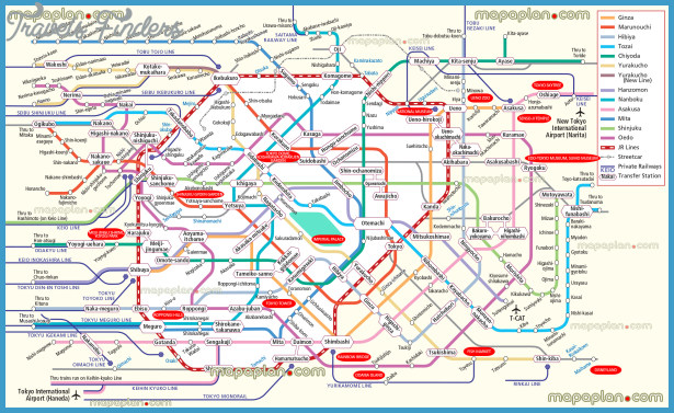 Tokyo Subway Map With Attractions.Japan Map Tourist Attractions Travelsfinders Com
