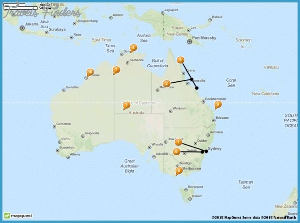 Australia Map Tourist Attractions – Australian Tourist Attractions Map