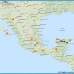 Map of Tourist Attractions In Mexico
