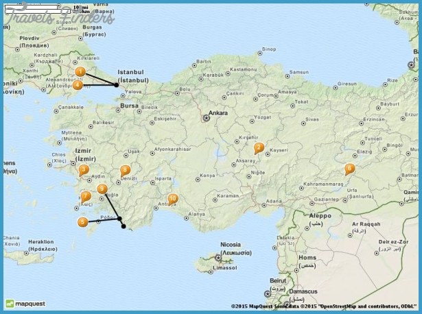 Turkey Map Tourist Attractions – Turkey Tourist Attractions Map