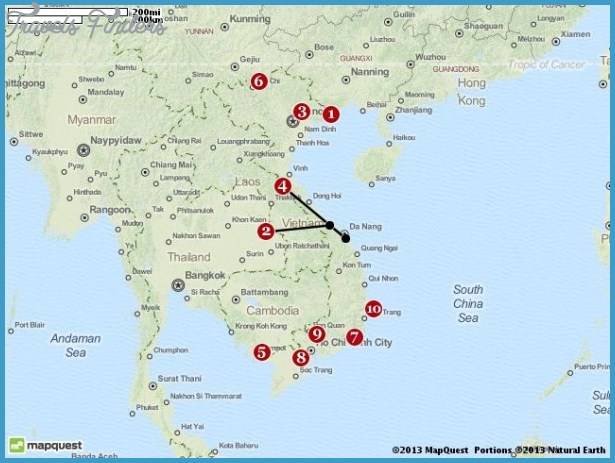 Vietnam Map Tourist Attractions – Tourist Attractions Map In Vietnam
