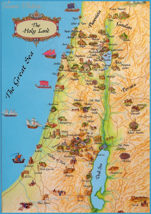 Israel Map Tourist Attractions – Israel Tourist Attractions Map