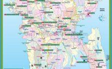 Tourist map of Bangladesh