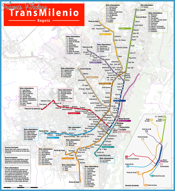 Colombia subway map travelsfinders com for Subway colombia