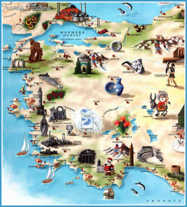 Turkey Map Tourist Attractions Pelfind – Turkey Tourist Attractions Map