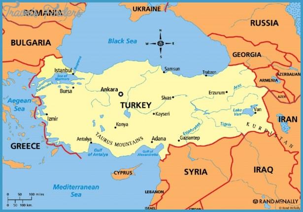 Turkey Map Travelsfinders Com