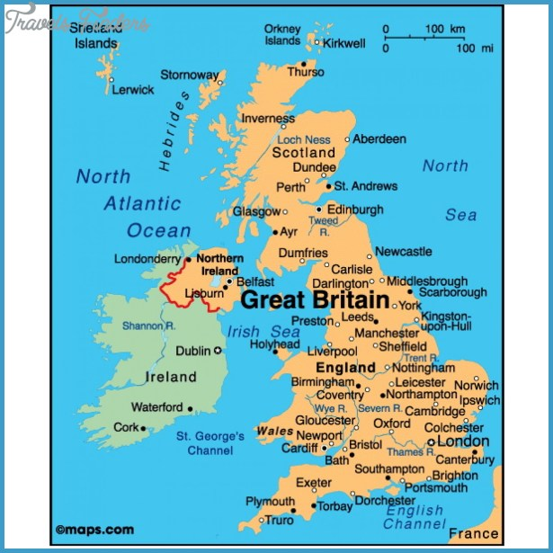 United Kingdom Map TravelsFindersCom - United kingdom map hd