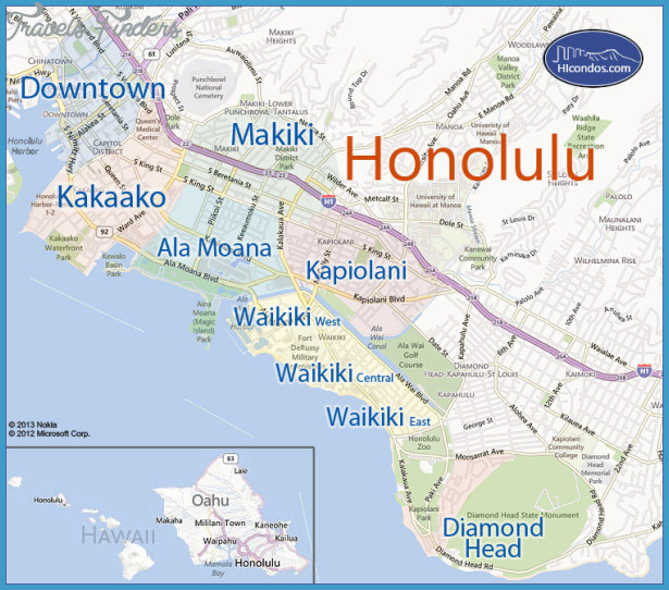 Urban Honolulu Map Tourist Attractions – Tourist Attractions Map In Oahu