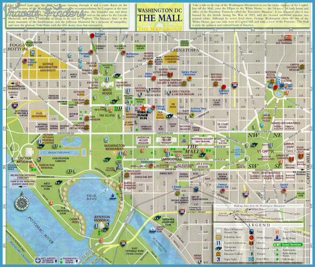 Washington Map Tourist Attractions – Map Of Tourist Attractions In Washington Dc