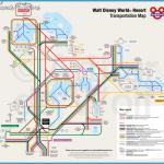 Map of Walt Disney World Resort Transportation as a Subway Map ...