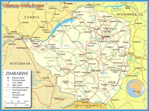 Zimbabwe Tourist Map See map details From www.nationsonline.org