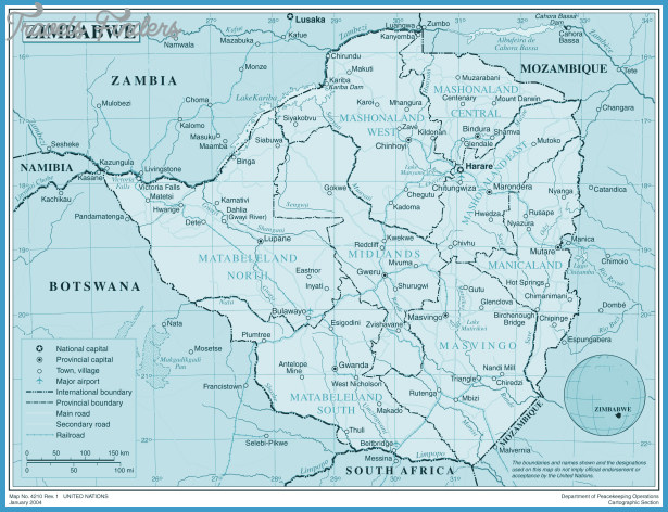 Large detailed political and administrative map of Zimbabwe | Vidiani