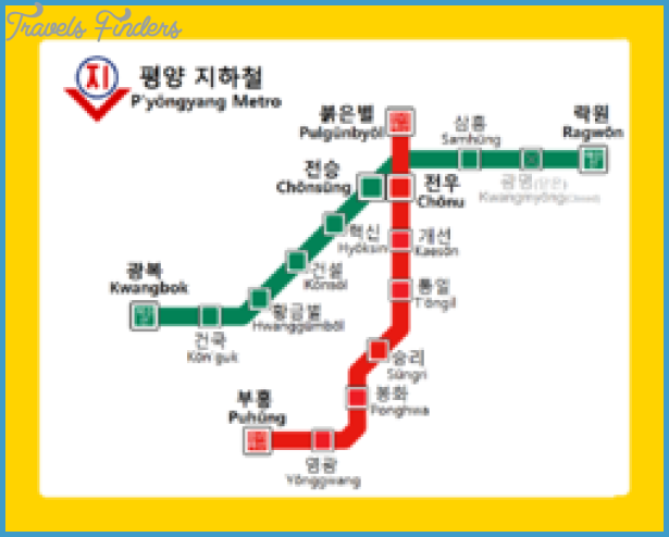 North Korean Subway Map.Korea North Subway Map Travelsfinders Com