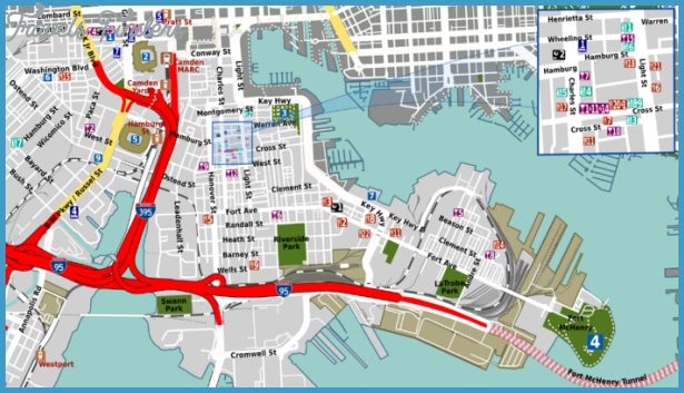 Baltimore Map Tourist Attractions – Tourist Attractions Map In Baltimore